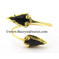 Black Obsidian  Arrowhead Bangle