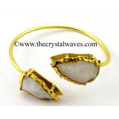 Snow Quartz  Arrowhead Bangle