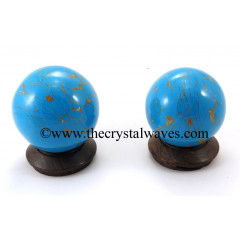 Turquoise W/Copper Matrix (Manmade) Ball / Sphere