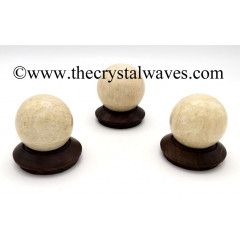 Cream Moonstone Ball / Sphere