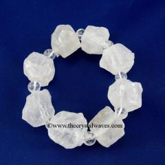 Crystal Quartz Rough Nuggets Bracelet