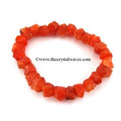 Carnelian Rough Beads Polished Bracelet