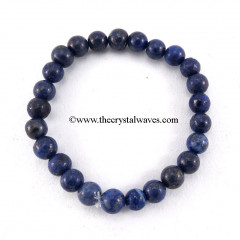 Lapis Lazuli Round Beads Bracelet