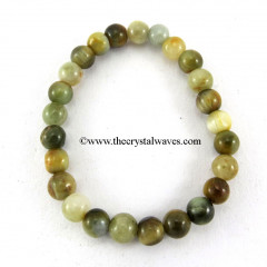 Green Cats Eye Round Beads Bracelet
