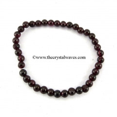Garnet Round Beads Bracelet