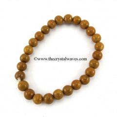 Camel Jasper Round Beads Bracelet