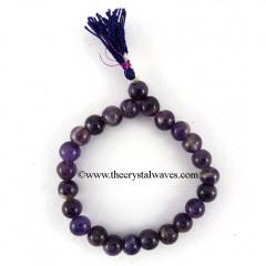Amethyst Round Beads Power Bracelet