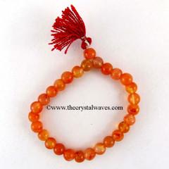 Carnelian Round Beads Power Bracelet