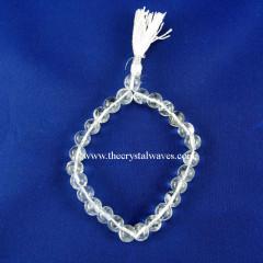 Crystal Quartz Round Beads Power Bracelet