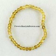 Citrine Round Beads Bracelet