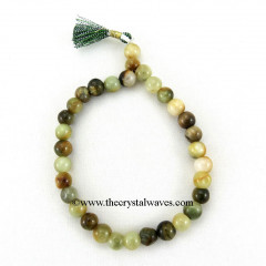 Green Cats Eye Round Beads Power Bracelet