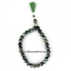 Grey Cats Eye Round Beads Power Bracelet