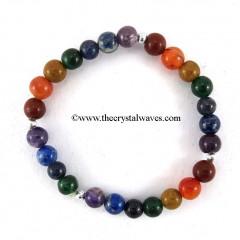 Round Beads Chakra Bracelet