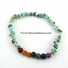 Turquoise Chips  Chakra Bracelet