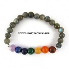 Laradorite Round Beads  Chakra Bracelet