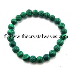 Malachite ManMade Round Beads Bracelet