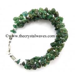 Green Aventurine (Dark) Chips Fuse Wire Bracelet