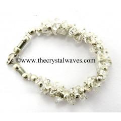 Crystal Quartz Chips Fuse Wire Bracelet
