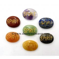 Spirit Engraved Oval Cabochon Chakra Set