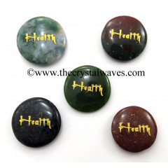 Fancy Jasper Health Engraved Round Cabochon
