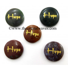 Fancy Jasper Hope Engraved Round Cabochon
