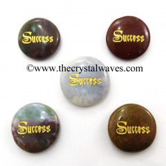 Fancy Jasper Success Engraved Round Cabochon