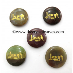 Fancy Jasper Laugh Engraved Round Cabochon