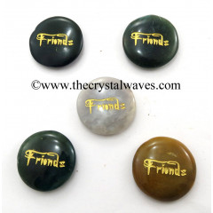 Fancy Jasper Friends Engraved Round Cabochon