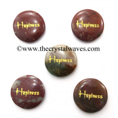 Fancy Jasper Happiness Engraved Round Cabochon