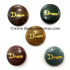Fancy Jasper Dream Engraved Round Cabochon