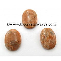 Peach Moonstone Oval Cabochon