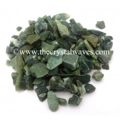 Moss Agate Raw Undrilled Chips