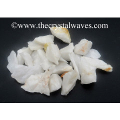 Snow Quartz Raw Undrilled Chips