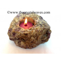 Amethyst Natural Rough Tea Light Holder