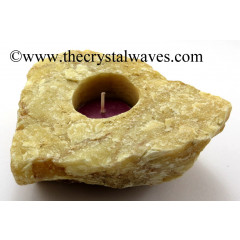 Yellow Aventurine Natural Rough Tea Light Holder