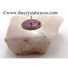 Rose Quartz Flat Tea Light Holder