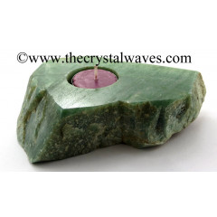 Green Aventurine Flat Tea Light Holder