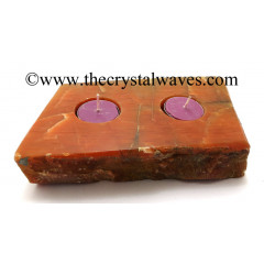 Red Aventurine Flat Multi Tea Light Holder