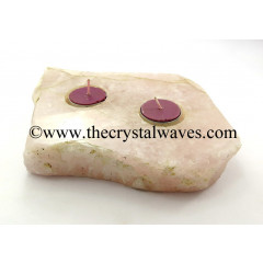 Rose Quartz Flat Multi Tea Light Holder