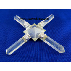 Crystal Quartz Pyramid Energy Generator