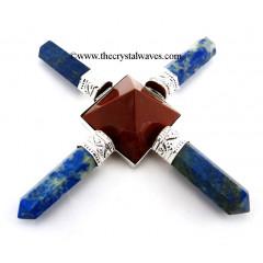 Lapis Lazuli & Red Jasper Pyramid Energy Generator