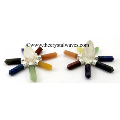 Crystal Quartz Rough Point Chakra Pencil Energy Generator