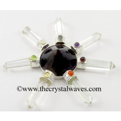 Amethyst Conical Pyramid Crystal Pencil W/Chakra Cab. Energy Generator