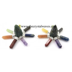 Blood Agate Rough Point Chakra Pencil Energy Generator