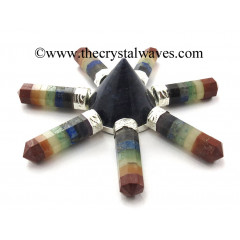Blue Aventurine Conical Pyramid Chakra Bonded Pencil Generator