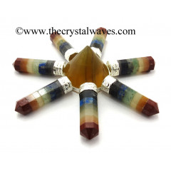 Fluorite Conical Pyramid Chakra Bonded Pencil Generator