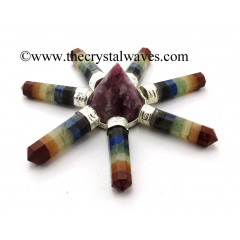 Lepidolite Conical Pyramid Chakra Bonded Pencil Generator