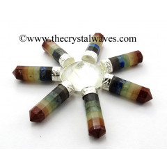 Crystal Quartz Conical Pyramid Chakra Bonded Pencil Generator