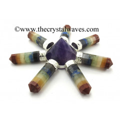 Amethyst Conical Pyramid Chakra Bonded Pencil Generator