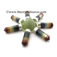 Green Aventurine Conical Pyramid Chakra Bonded Pencil Generator